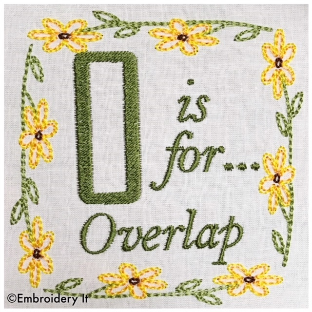 Embroidery Words Alphabet Letter O - Machine Embroidery Design in Pes, Dst, Exp,