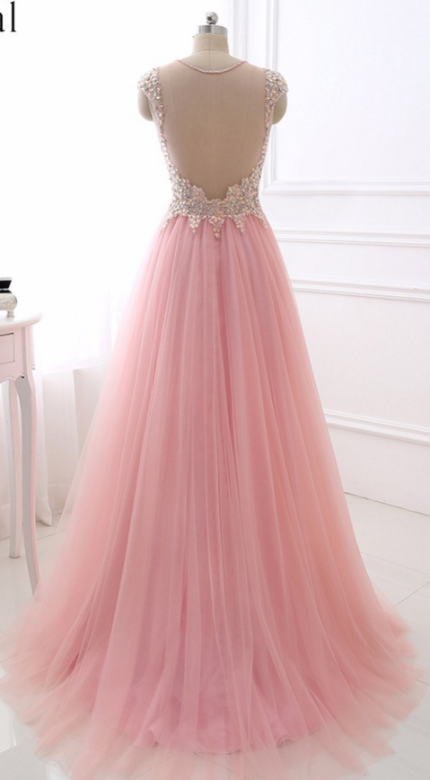 2018 Sexy V Neck Evening Dress Erosebridal Sparkly Beading Long Prom Party Gowns