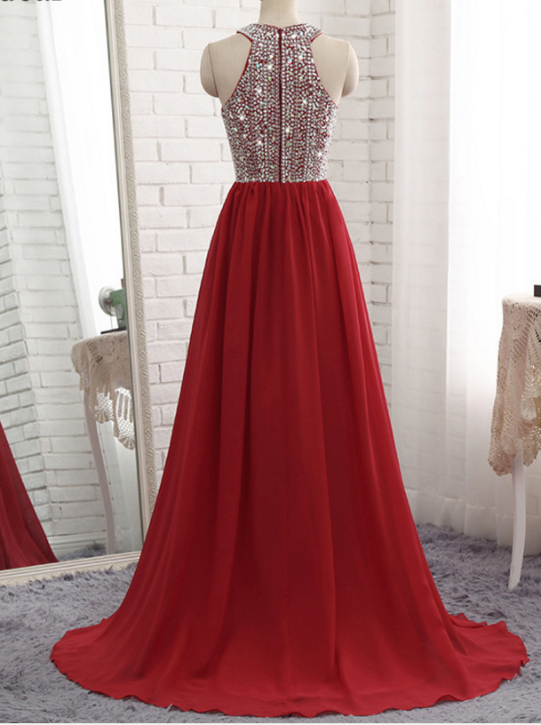 The most popular new arrival is a chiffon evening dress with bling bling 2018