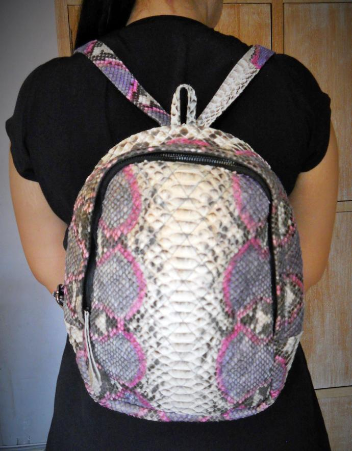 Handmade Python Leather Backpack