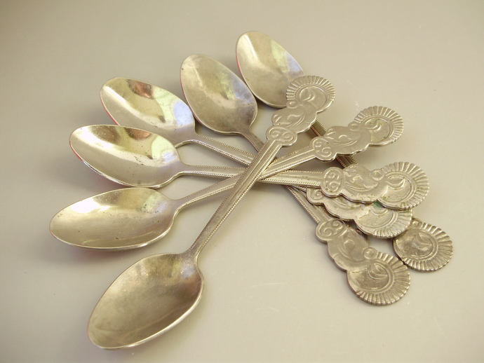Vintage set of teaspoon 6 pieces,retro cutlery