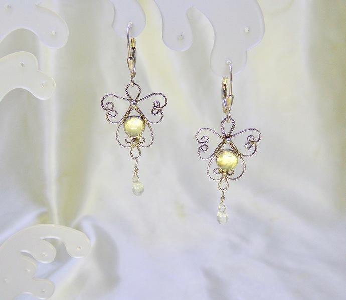 Angels Breath Moonstone Earrings
