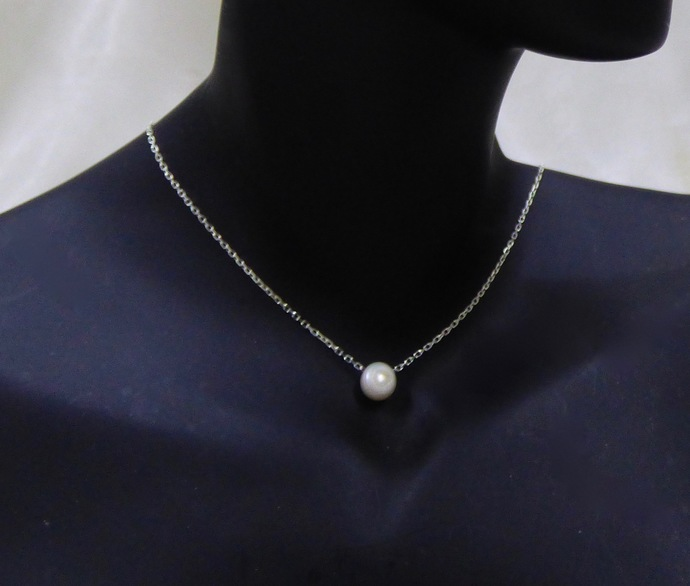Fine Pearl Sterling Silver Necklace