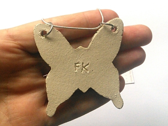 Large Butterfly Ceramic Pendant