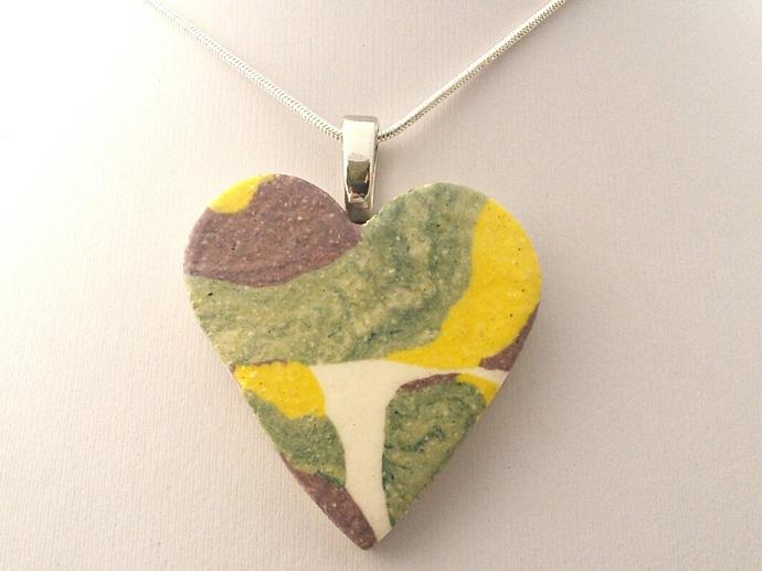 Large Ceramic Heart Pendant