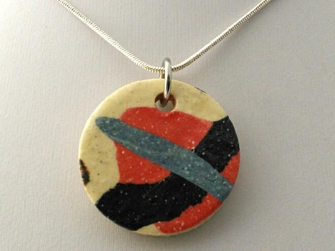 Round Ceramic Pendant