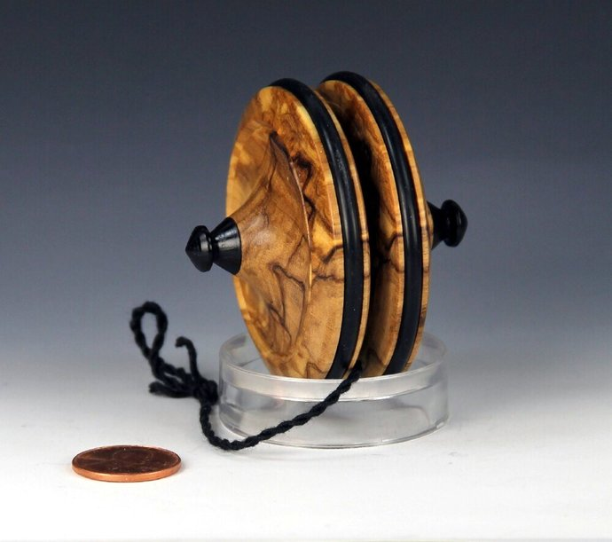 Handmade Terror Top YoYo, made from Beautiful Italian Olivewood