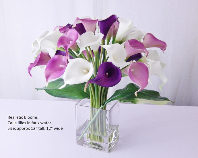 Contemporary Purple White Calla By Realisticblooms On Zibbet