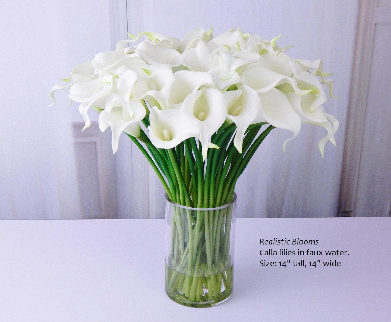 Whiteoffwhite calla lilylilies silk by realisticblooms on zibbet izmirmasajfo