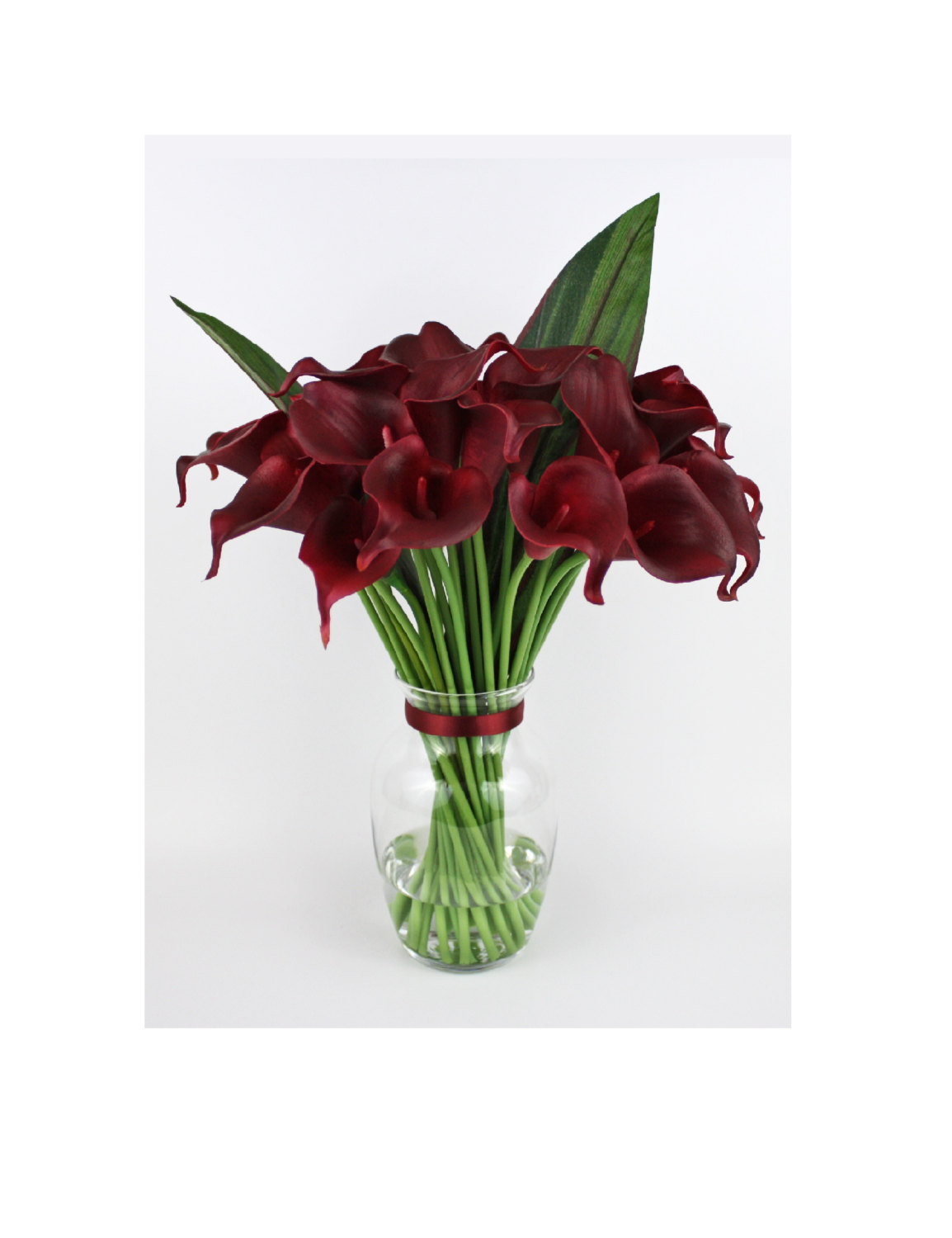 Burgundy calla lilylilies silk floral by realisticblooms on zibbet izmirmasajfo