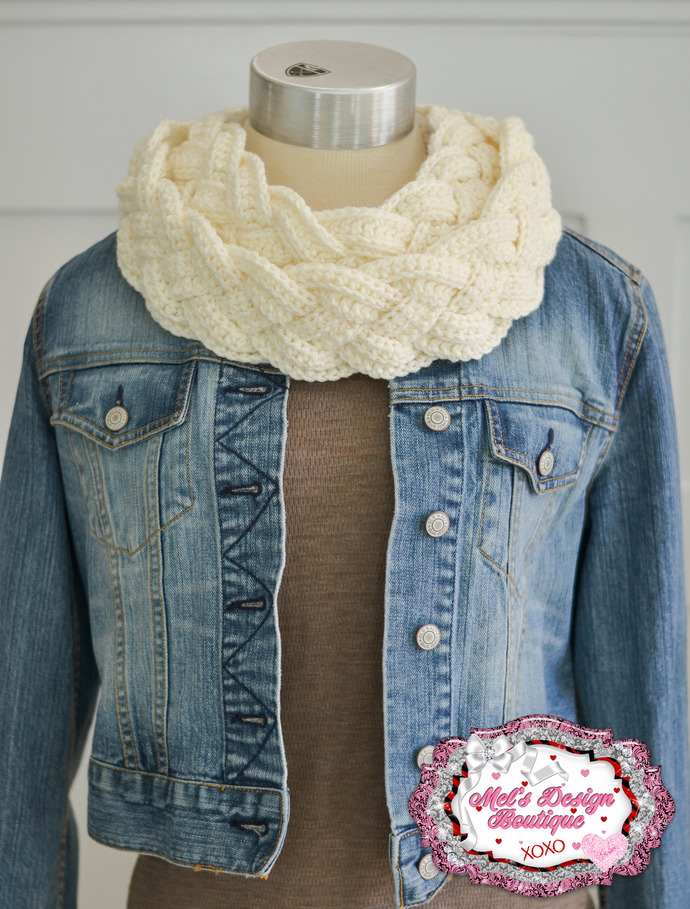 Braided Cowl Womens Neck Cowl By Mels Design Boutique On