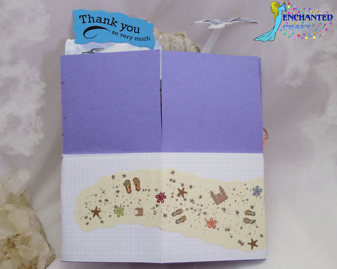 Pop-up Seaside Thank You Card handmade