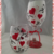 Hearts Hand Painted Wine Glass