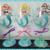Valentine's Day Mermaid Hand Painted Wine Glass