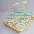 Vintage glass barware,  shooters,6 shot glasses on rack