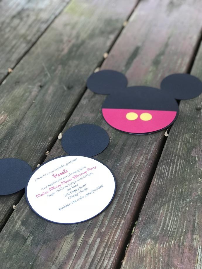 Mickey Mouse Invitations Set