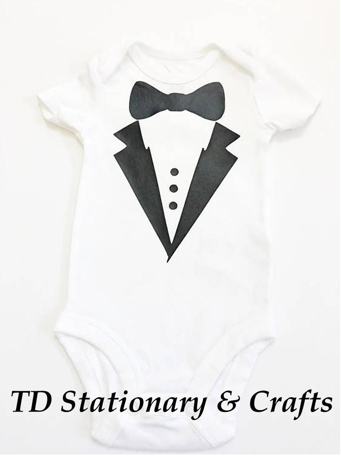 Tuxedo / Ring Bearer Design Baby Tee Shirts or Onesie