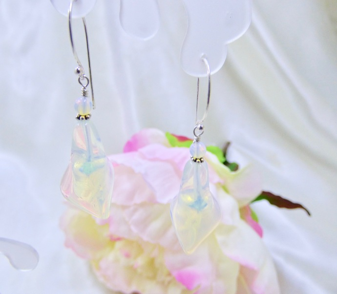 Day Lilly's in Opalite and Crystal Sterling Silver Earrings
