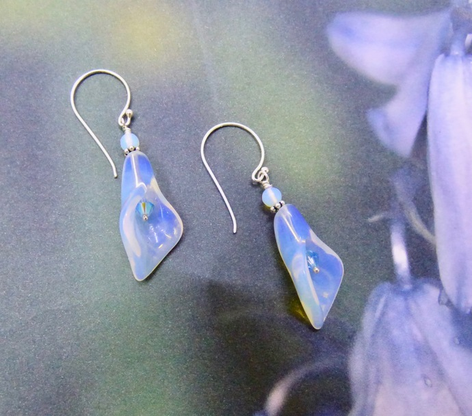 Day Lilly's in Opalite and Crystal Earrings