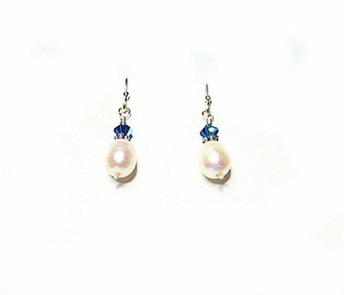 FW Pearl Drop Earrings Sterling Silver and Capri