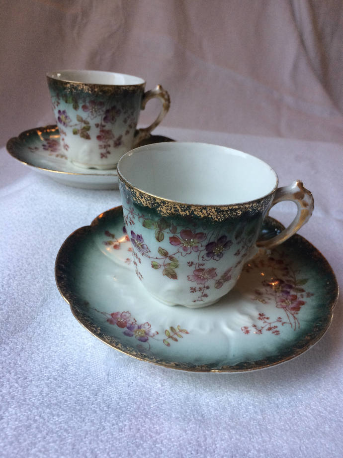 Vintage demitasse espresso cup and saucer set | Turkish coffee | French