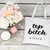 Top bitch custom bride bag, maid of honor gifts, custom bridal party bags