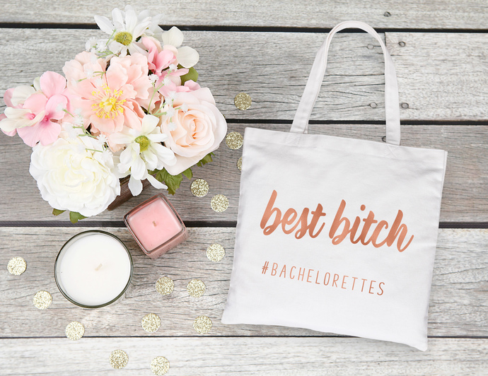 Custom Bridesmaid Tote Bags, Bridesmaid gifts, best bitch tote bag, bachelorette