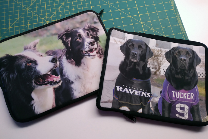 Custom Neoprene Zippered Cases for Laptops, iPads, Kindles, etc.