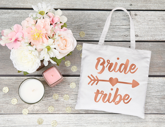 Boho Bride tribe tote bag, custom tote bags, bridesmaids gift ideas,