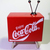 Coca Cola mini TV Shaped Desk Clock (Coke Time) - Tested Works - New In Box
