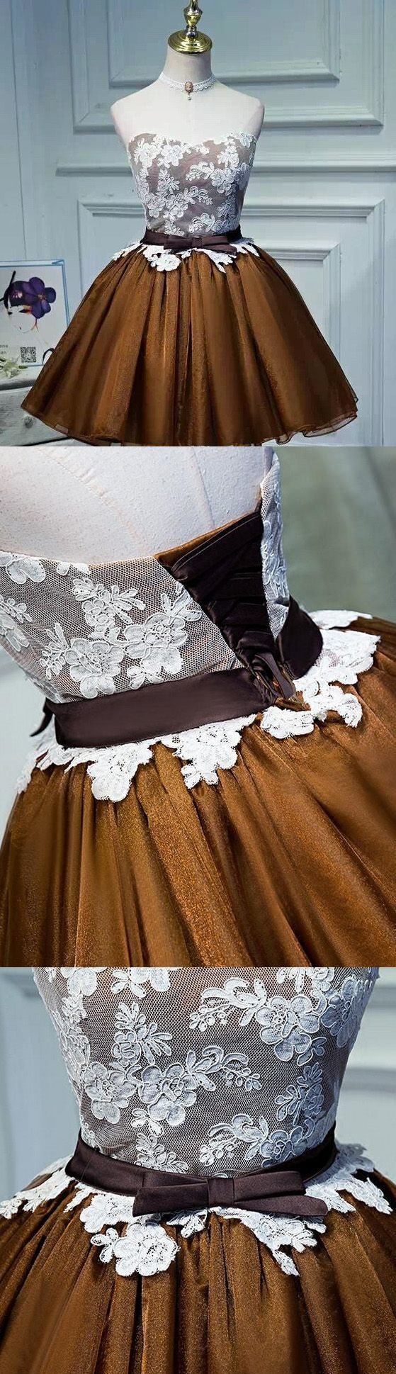 Short Homecoming Dresses, Chocolate Prom Dresses, Short Party Dresses 2018