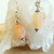Peach Moonstone Sterling Silver Dangle Earrings
