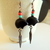 Long Dangle Native Style Bear Earring, Copper Jewelry