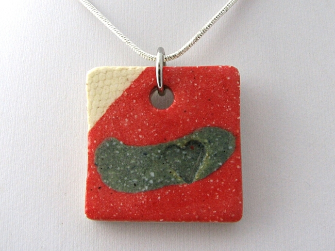 Square Ceramic Pendant
