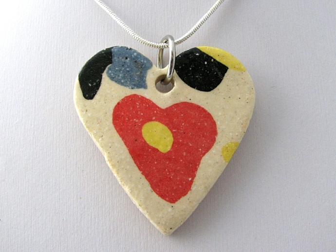 Large Ceramic Heart Pendant