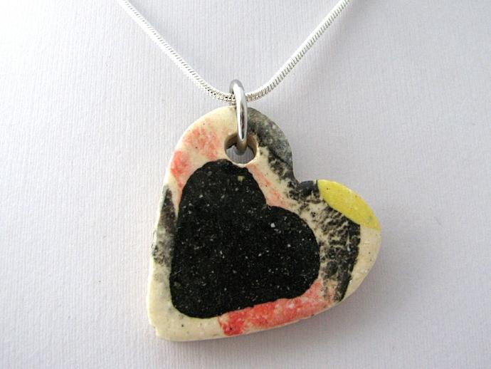 Ceramic Heart Pendant
