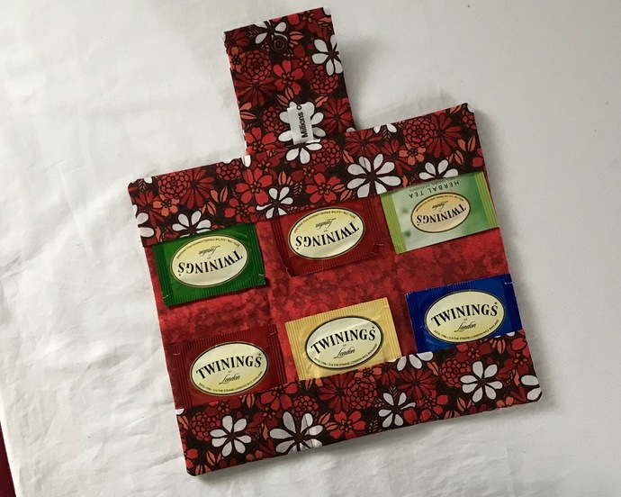 Red Tea Bag Wallet