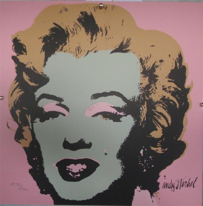 Andy Warhol Marilyn Monroe signed limited edition lithograph 1292/2400 II.27