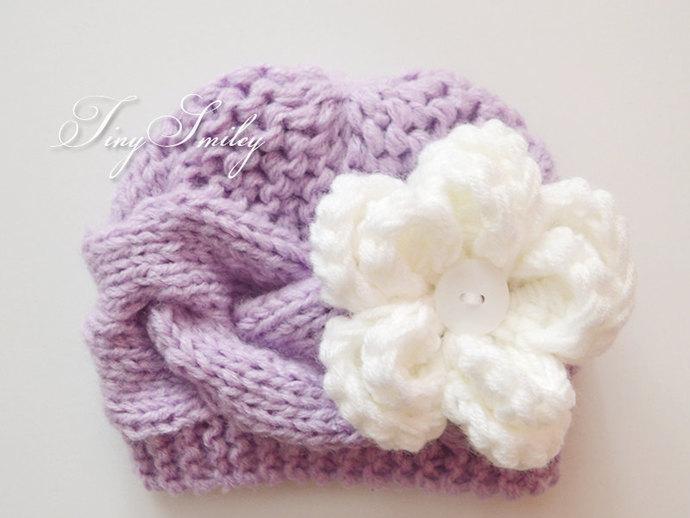 Lilac Newborn Hat cf859c5b18c8