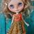 OOAK pure silk dress for Blythe doll *Bohemian sunset*