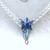 Blue Evenstar Necklace Half-Torc Celtic Weave