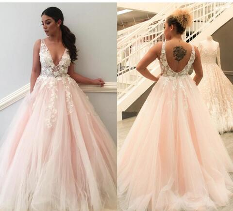 Blush Pink Plus Size Prom Dresses Long | Miss Zhu Bridal