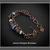 Artisan Lampwork Glass and Amethyst Gemstone Copper Multi Strand Bracelet