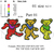 custom embroidery ,Dancing bears embroidery design,3 designs in 1 embroidery