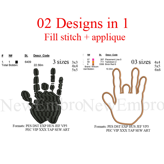 costom embroidery Hand applique embroidery design, 2 designs in 1  applique +