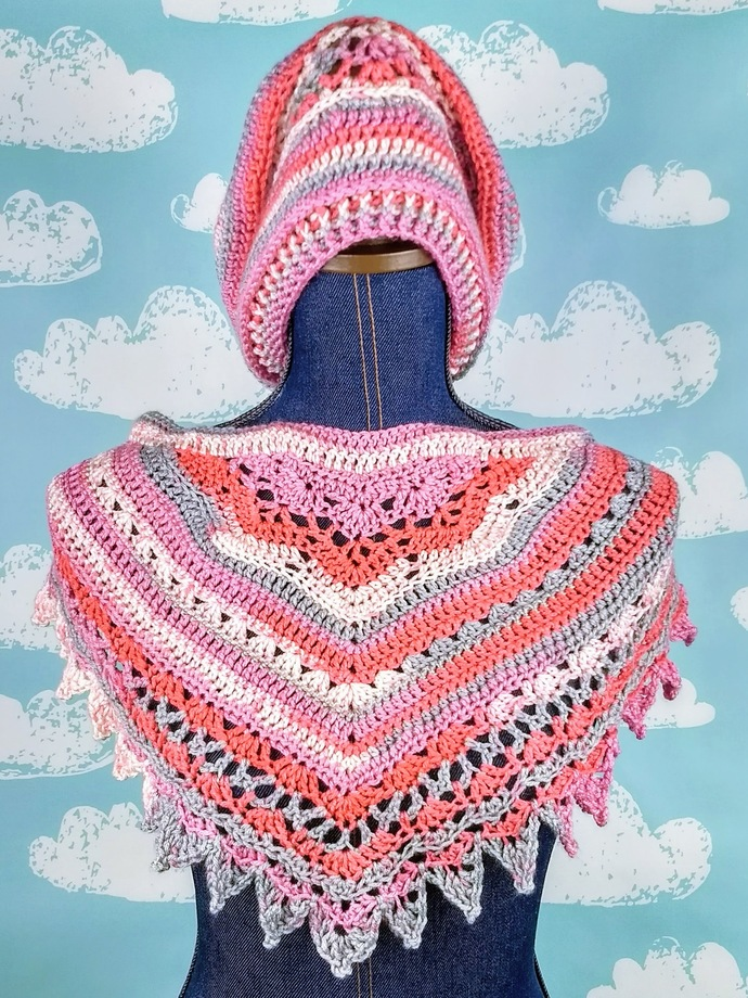 Pretty in Pink Hat and Cowl Set