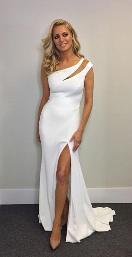 Newest Gorgeous White Mermaid Side Slit by Dress Storm on Zibbet