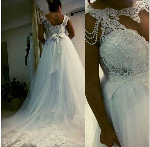 623a9ca2f73 2018 New Plus Size Wedding Dresses Bridal Gowns Cheaper A-Line Lace Beading  Bone