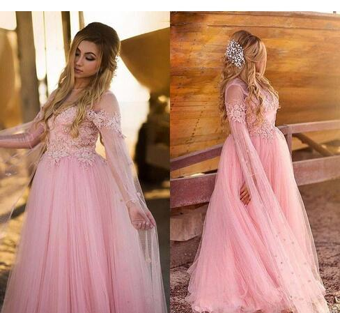 Plus Size Blush Pink Tulle Evening Dresses By Miss Zhu Bridal On