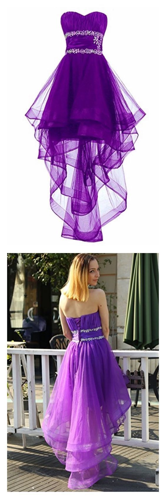 Sweetheart High Low Layers Tulle Homecoming Dresses Party Dresses Prom Dresses